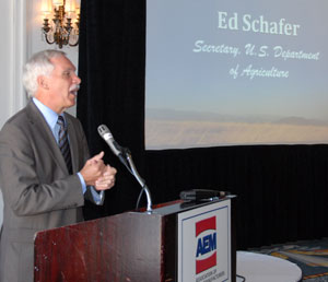Association of Equipment Manufacturers AgExec Forum Ed Schafer