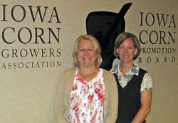 Cindy and Mindy at Iowa Corn