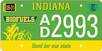IN Biofuels Car Tag