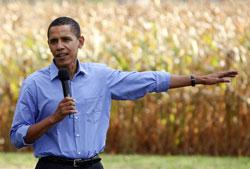 Obama in corn