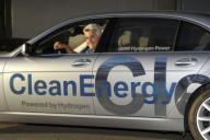 Jay Leno drives a BMW Hydrogen 7, the first hydrogen-powered luxury sedan