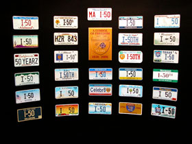 50th License Tags