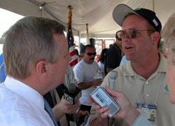 Interviewing Senator Durbin