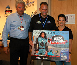 Danica Patrick promoting the newly announced Peak Antifreeze