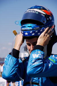 Team Ethanol Driver Ryan Hunter-Reay moments before the start of the 2007 Peak Antifreeze Indy 300 at Chicago