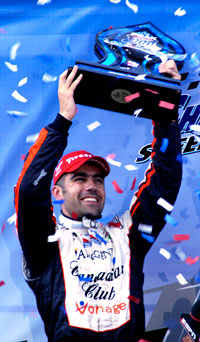 Peak Antifreeze Indy 300 and IndyCar Series Champion Canadian Club Driver Dario Franchitti