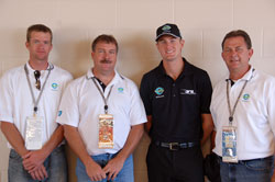 President of Cardinal Ethanol Plant and colleagues pictured with Team Ethanol Driver Ryan Hunter-Reay