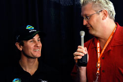Phillip Wilson of the Indianapolis Star interviews Team Ethanol Driver Ryan Hunter-Reay