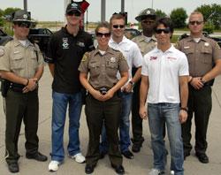 Ryan Hunter-Reay With Highway Patrol