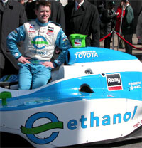 Paul Dana With The Ethanol Car