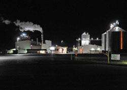 Ethanol Plant at Night
