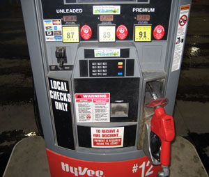 HyVee Gas Pump in Iowa
