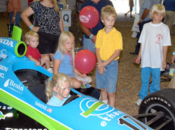 Kids in Indy Car Simulator