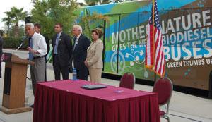 Farm to Fuel buses Florida biodiesel