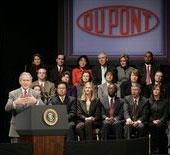 Bush at Dupont