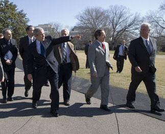 Bush and friends