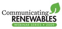 communicating renewables webinar series