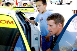 Sam Sweeney grills American Le Mans Series Driver Peter Dumbreck