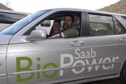 Bob in a Saab